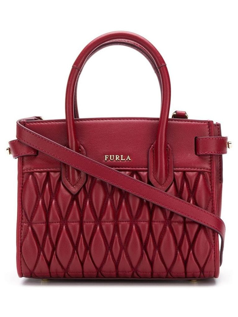 Furla Pin quilted tote - Red