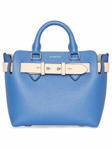 Burberry The Mini Leather Belt Bag - Blue