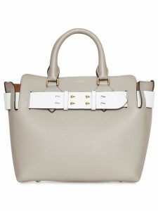 Burberry The Small Tri-tone Leather Belt Bag - Grey