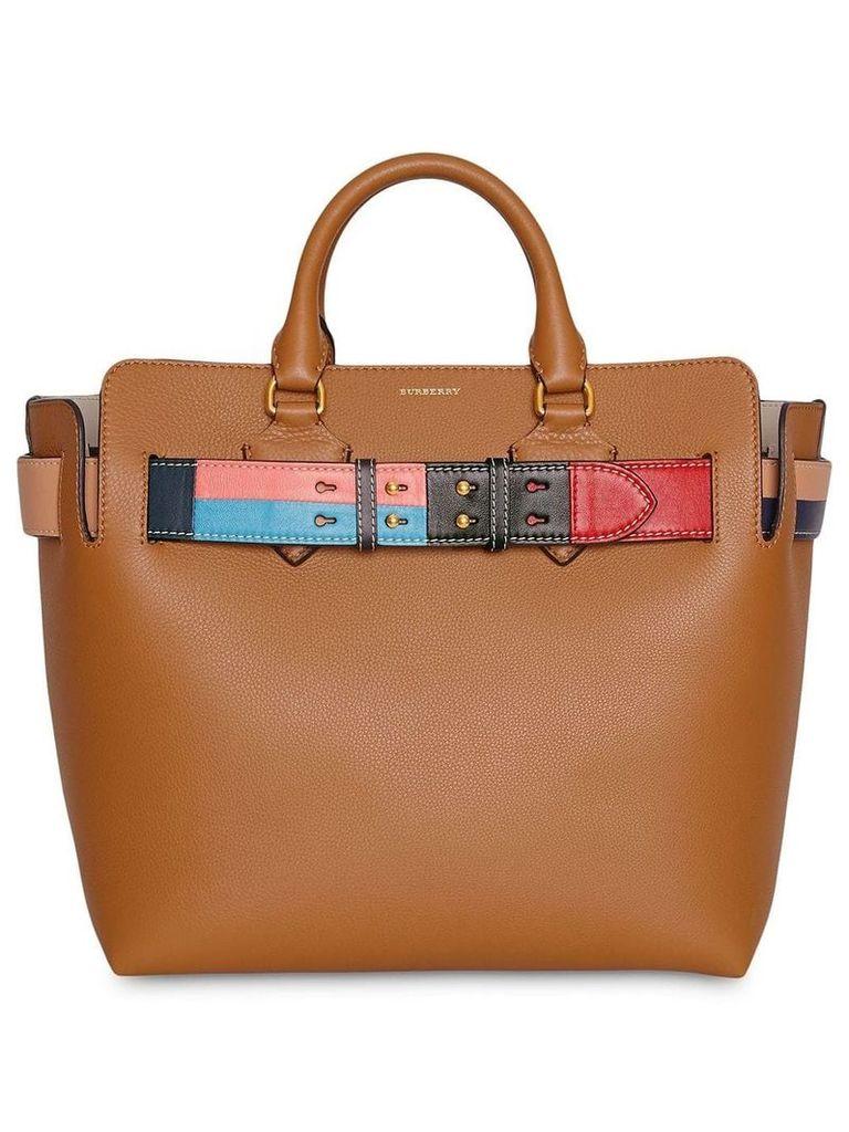 Burberry The Medium Leather Colour Block Detail Belt Bag - Brown