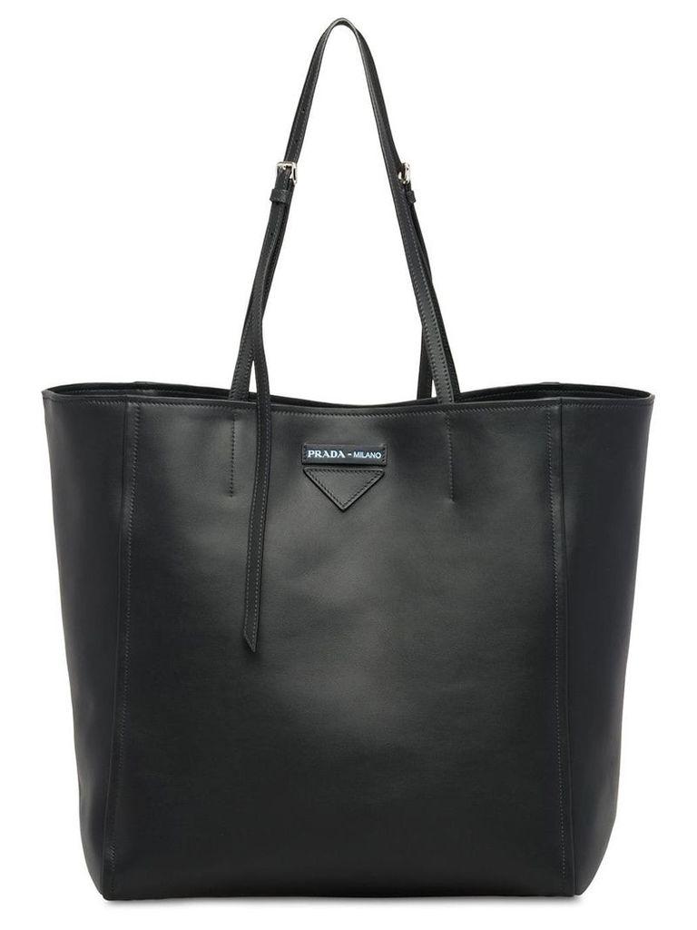 Prada Large Prada Concept leather tote - Black