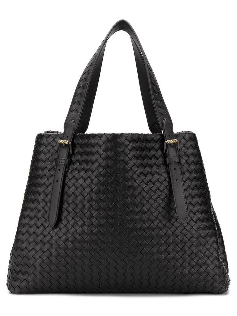 Bottega Veneta large intrecciato tote bag - Black