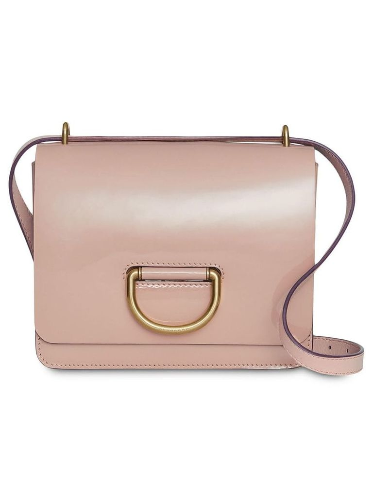 Burberry The Small Patent Leather D-ring Bag - Pink