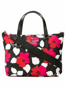 Kate Spade floral-print tote - Black