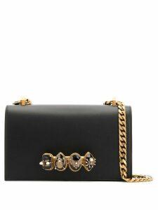 Alexander McQueen bejewelled insect satchel - Black