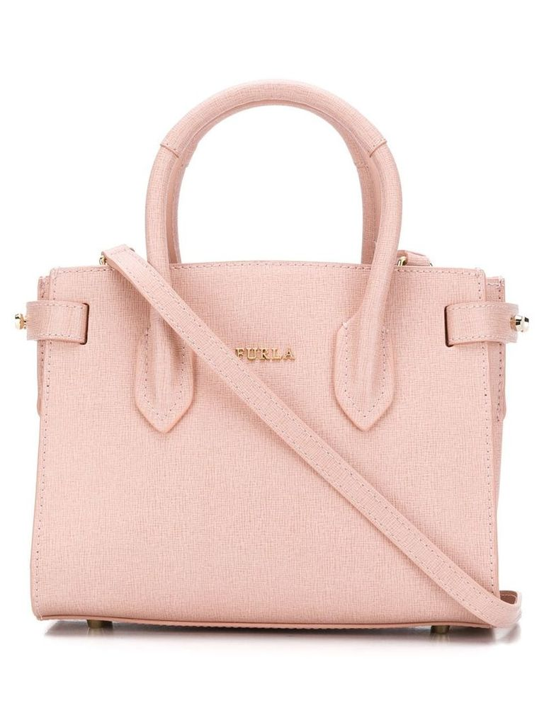 Furla mini Pin tote - Pink