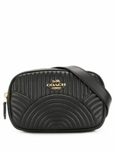 Coach belt bag with deco quilting - Black