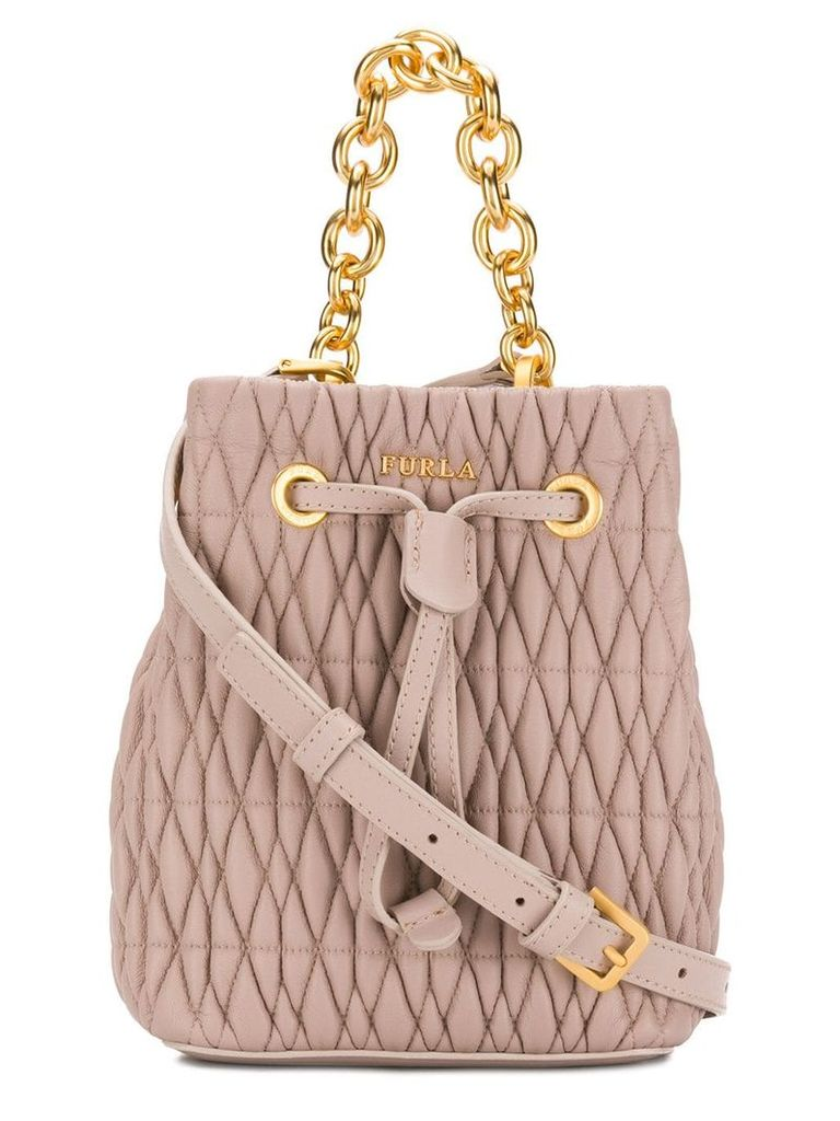 Furla Stasy Cometa bucket bag - Neutrals