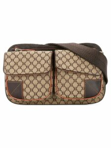 Céline Pre-Owned Macadam pattern belt bag - Brown