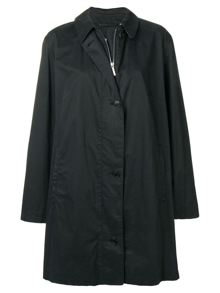 Burberry Vintage 2000's mid-length trench coat - Black