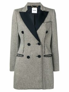 MOSCHINO PRE-OWNED 1990's tweed coat - Grey
