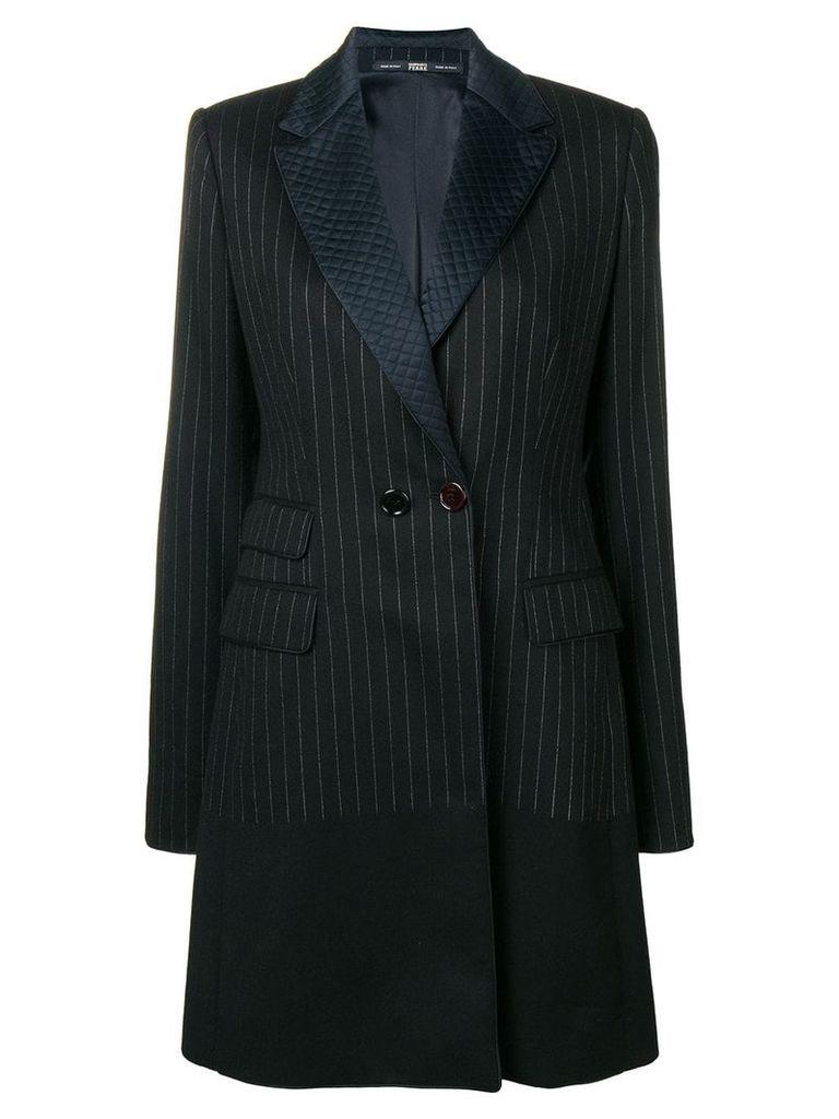 Gianfranco Ferre Vintage 1980's pinstripe tailored coat - Black