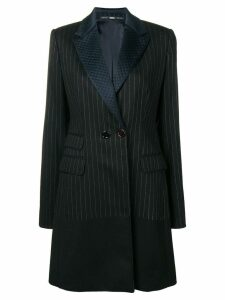 Gianfranco Ferre Pre-Owned 1980's pinstripe tailored coat - Black