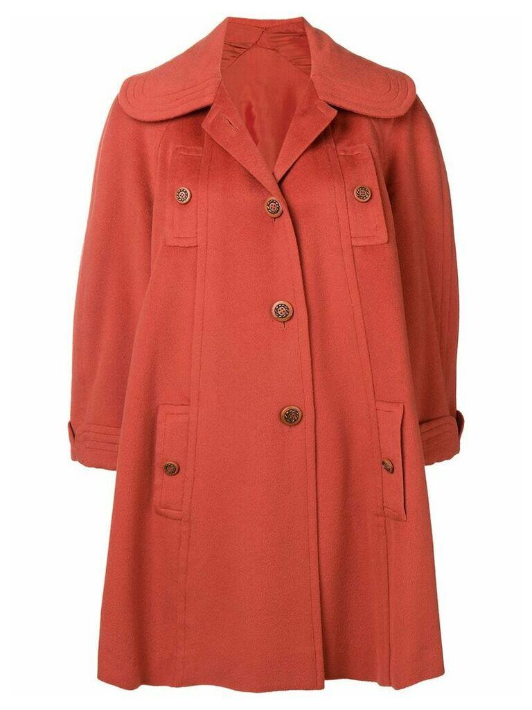 A.N.G.E.L.O. Vintage Cult 1950's buttoned rose coat - Orange