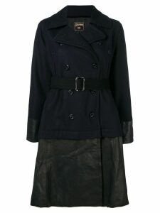 Jean Paul Gaultier Pre-Owned 1990's double breasted coat - Blue