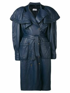 Rocco Barocco Vintage 1980's oversized shoulders coat - Blue