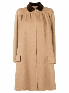 Valentino Pre-Owned 1970's draped flared coat - Neutrals