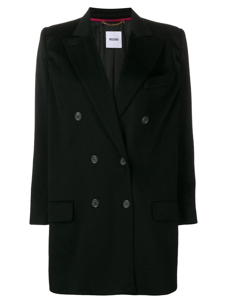 Moschino Vintage 2000's double breasted coat - Black