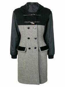 JEAN PAUL GAULTIER PRE-OWNED hooded double-breasted coat - Grey