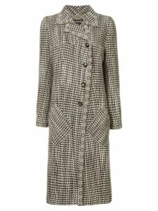 Chanel Pre-Owned patterned coat - Brown