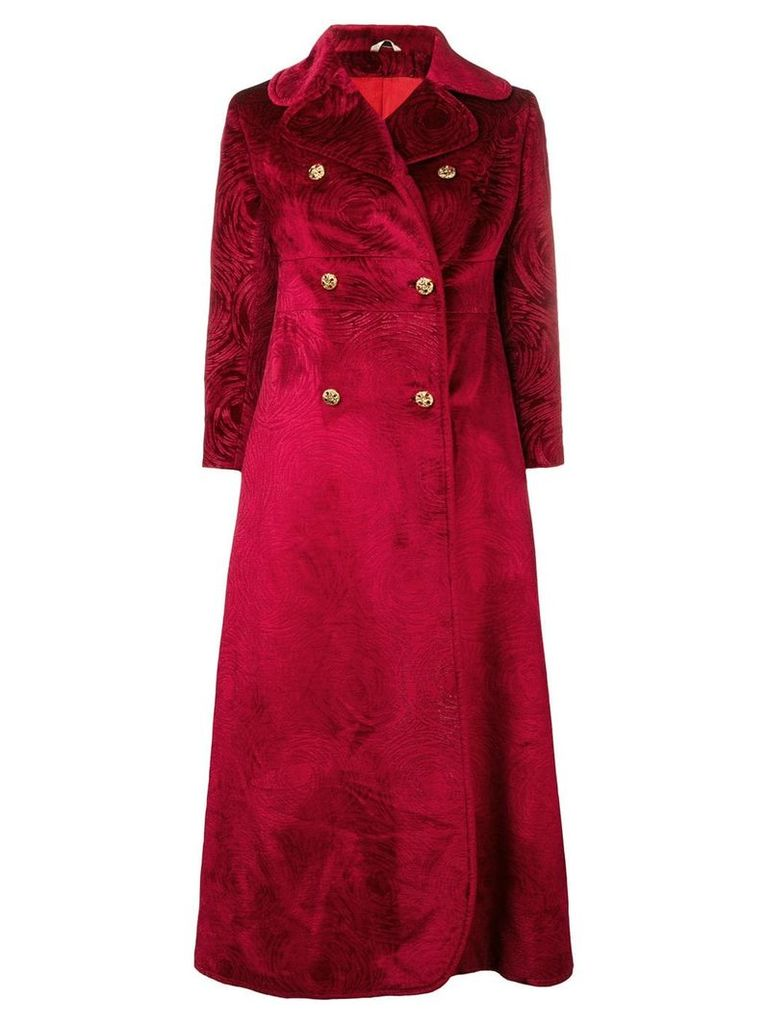 A.N.G.E.L.O. Vintage Cult 1960's double-breasted jacquard coat - Red