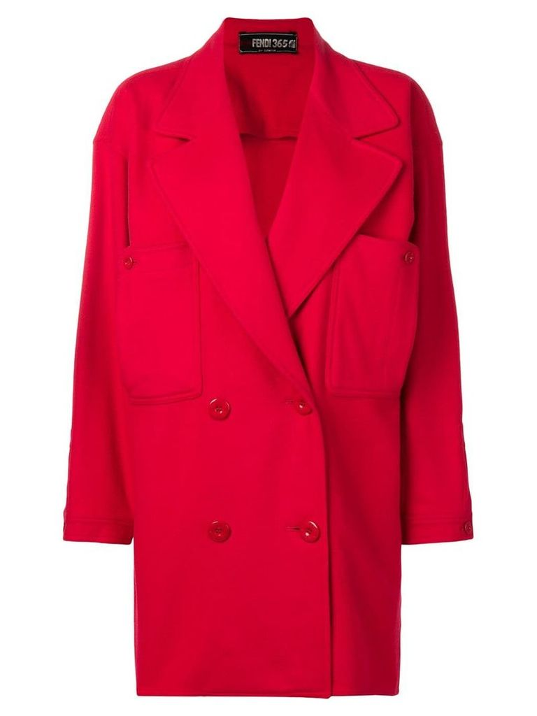 Fendi Vintage double breasted coat - Red