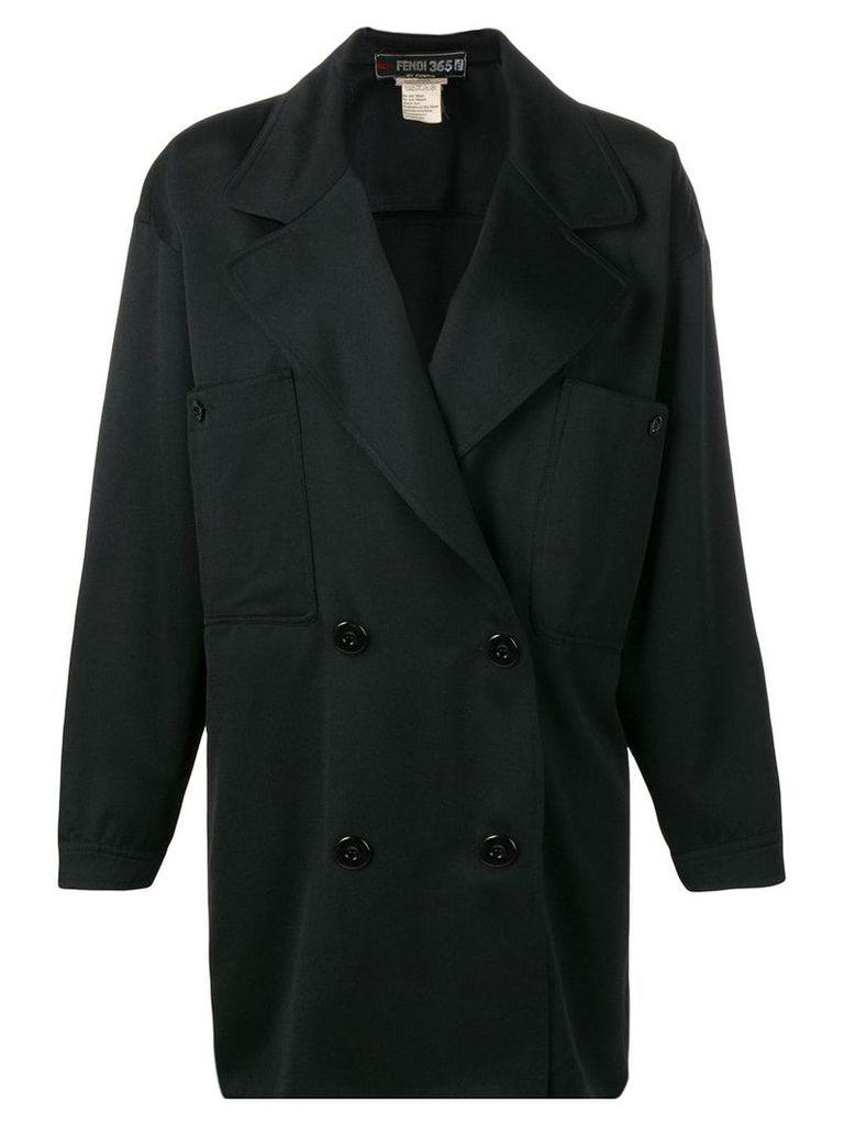 Fendi Vintage double breasted coat - Black