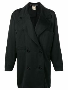 Fendi Pre-Owned double breasted coat - Black