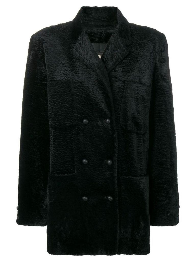 Fendi Vintage teddy coat - Black