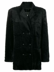 Fendi Pre-Owned teddy coat - Black