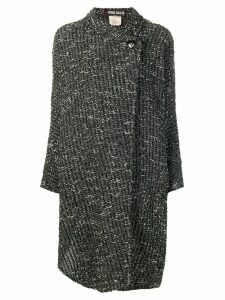 Fendi Pre-Owned boucle wrap coat - Black
