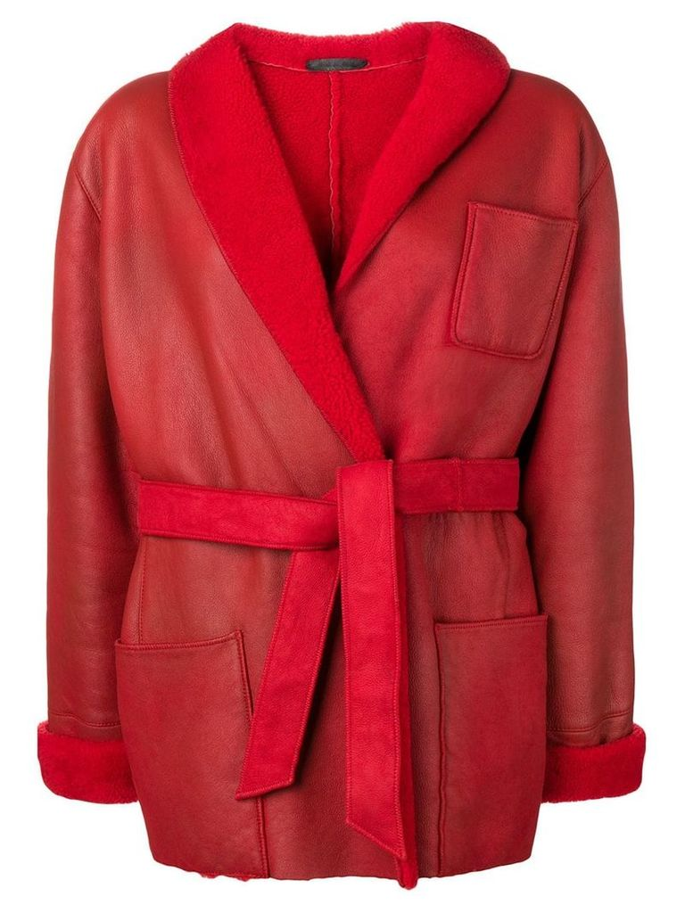 A.N.G.E.L.O. Vintage Cult 1970's shearling belted coat - Red