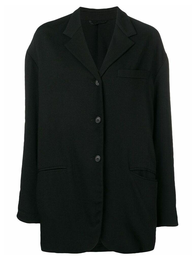 Dolce & Gabbana Vintage 1990's loose fit coat - Black
