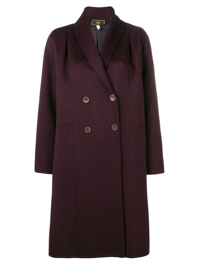 Fendi Vintage 2000's double-breasted midi coat - Red