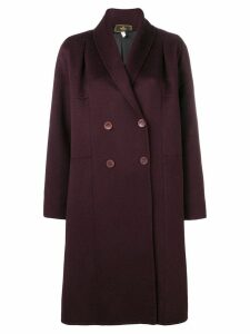 Fendi Pre-Owned 2000's double-breasted midi coat - Red