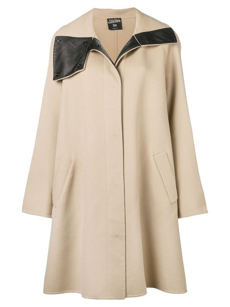 Jean Paul Gaultier Vintage 1990's flared midi coat - Neutrals