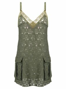 Junya Watanabe Comme des Garçons Pre-Owned lace mini dress - Green