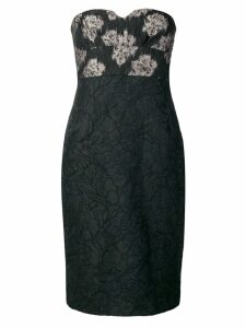 Kenzo Pre-Owned floral patterned midi dress - Black