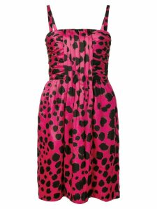 Moschino Pre-Owned cheetah print midi dress - Pink