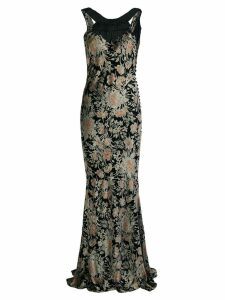 John Galliano Pre-Owned floral print gown - Black