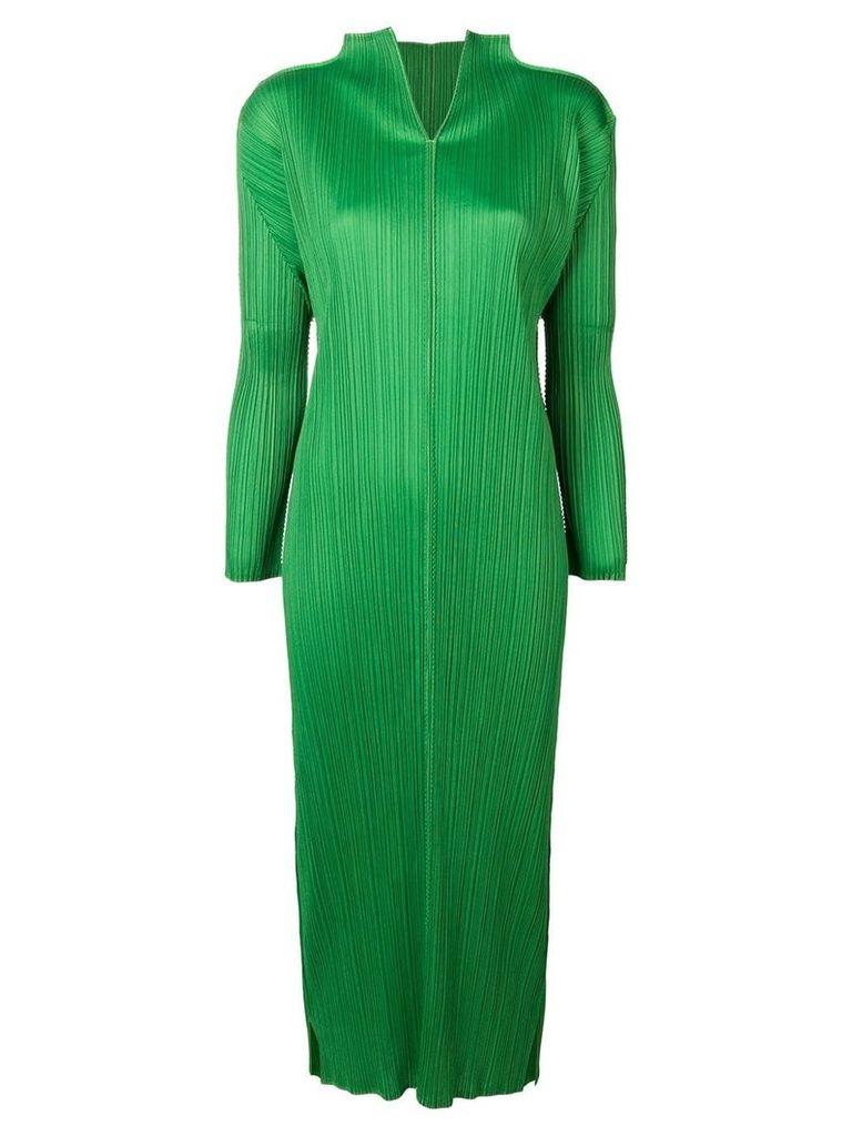 Issey Miyake Vintage long pleated dress - Green