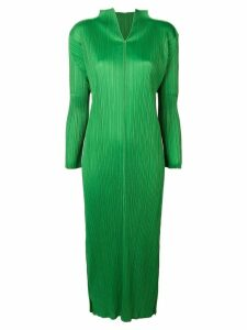 ISSEY MIYAKE PRE-OWNED long pleated dress - Green