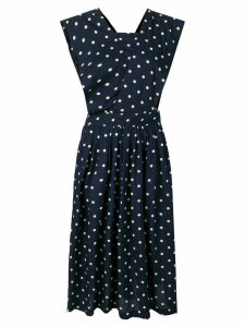 Comme Des Garçons Pre-Owned polka dot midi dress - Blue