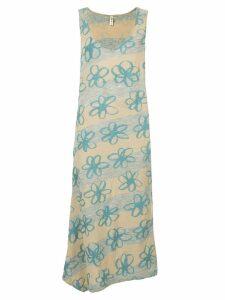 Comme Des Garçons Pre-Owned dropped armhole floral dress - Multicolour