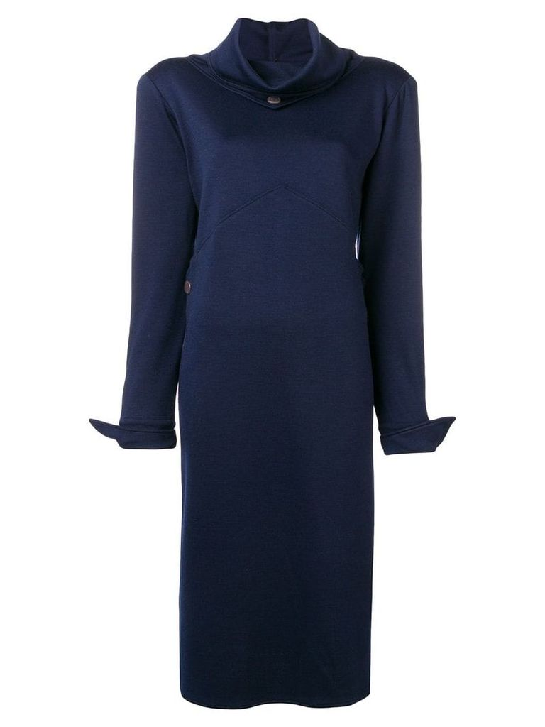 Fendi Vintage 1980's fitted midi dress - Blue