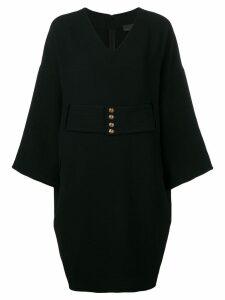 Fendi Pre-Owned 1990's belted short dress - Black