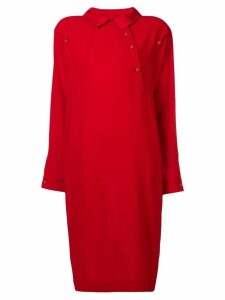 Fendi Pre-Owned 1980's dropped shoulders dress - Red