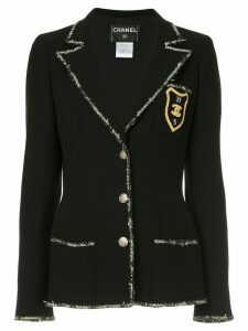 Chanel Pre-Owned patch detail blazer - Black