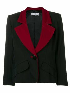 Yves Saint Laurent Pre-Owned 1980's wide lapels blazer - Black