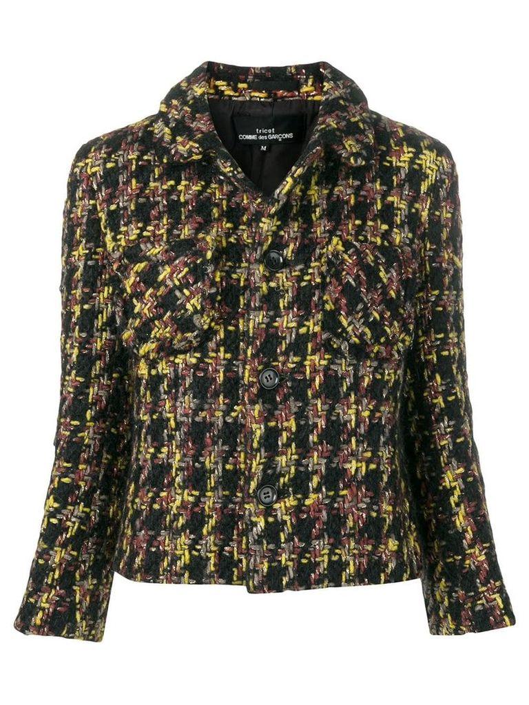 Comme Des Garçons Vintage Boucle cropped jacket - Black